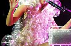 Lady Gaga's Giant Faux Soap Bubble Dress by Hussein Chalayan