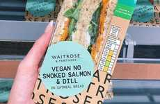 Vegan Smoked Salmon Sandwiches - Waitrose Introduced the Vegan No Smoked Slam & Dill Sandwich