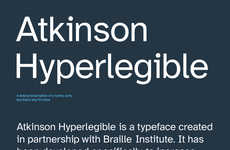 Inclusively Legible Typefaces - The Braille Institute Develops a Typeface for the Visually Impaired