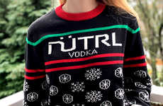 Charitable Vodka Holiday Sweaters - Nütrl Vodka Launched a Line of Ugly Holiday Sweaters and More