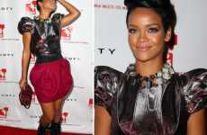 Puffy Shoulder Fashion - Rihanna's Futuristic Louis Vuitton Top