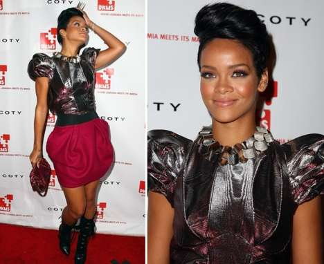 Puffy Shoulder Fashion - Rihanna