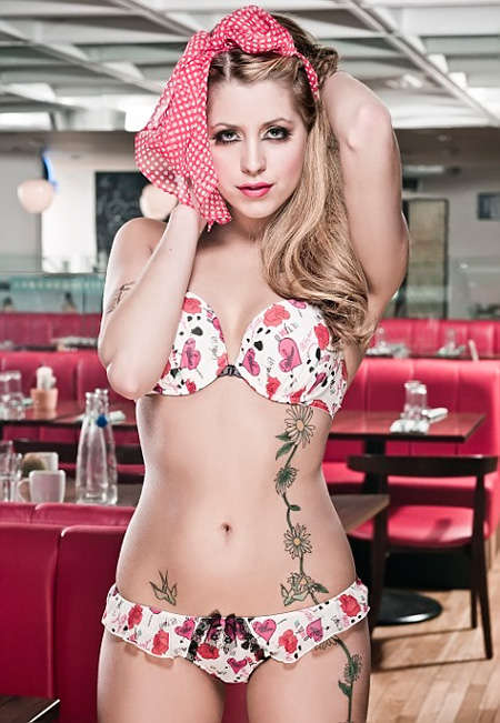 Tattooed Lingerie Models - Peaches Geldof Shows Off Her Ink for Miss Ultimo