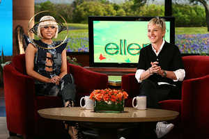 Lady Gaga Wears Galaxy Hat on Ellen