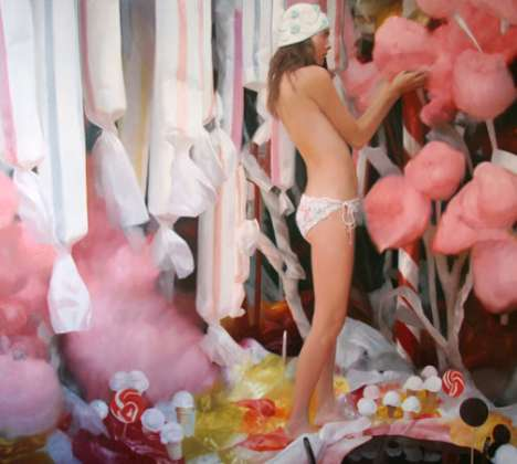 Sugar Fantasies - Will Cotton Combines Beautiful Women With Sweet Candy