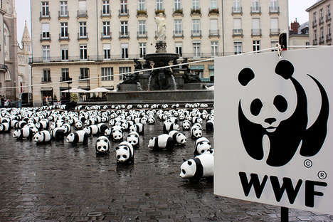 Urban Micro Pandas - 1600 Black Eyed Bears Bring Important Message for WWF