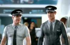 Body Painted Pilots - Air New Zealand Has 'Nothing to Hide' in New Ad Campaign