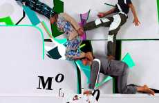 Human Stairs - Mi-Zo's Kaleidoscopic Collage of Jumping, Running and Dancing