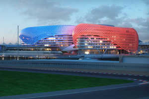 The Yas Hotel in Abu Dhabi Features Veiled Design