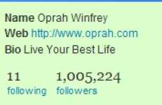 Oprah's Twitter Followers Reach 1 Million, And Other Tweet Headline