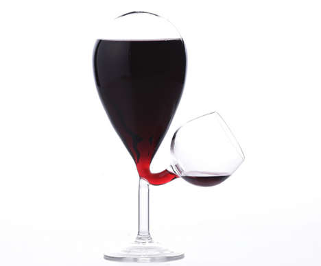 Perpetually Full Wine Glasses - The Glass Tank Wine Dispenser by Kouichi Okamoto