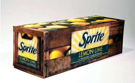 Nostalgic Soda Packaging - Jordan Puopolo's Vintage-Inspired Sprite Redesign