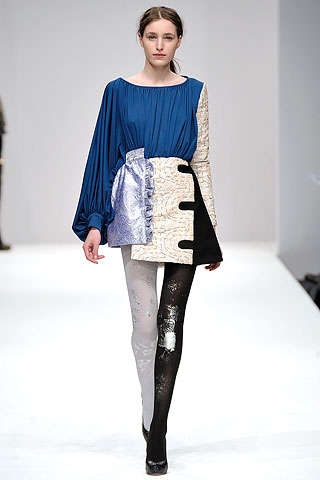 Patchwork Couture - Michael Van Der Ham's Reworked Recessionista Fashion for Fall 2009