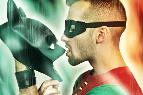 Superhero Bromances - Robin Gets Intimate With Batman's Mask in Exterface's 'Boywonder'