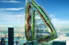 Bug-Styled Vertical Farms - The Dragonfly in New York City