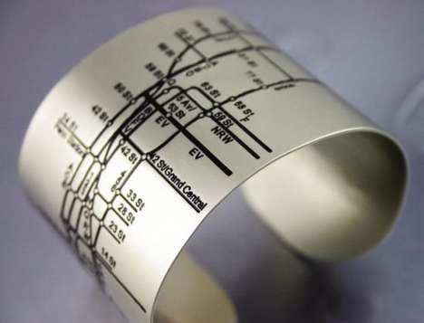 Transit Map Jewelry