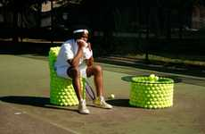 Ballsy Seating - Hugh Hayden Creates the Ultimate Tennis Ball Chair