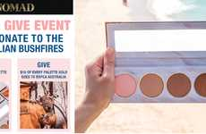 Charitable Australian Bushfire Cosmetics - Nomad Cosmetics' Debuted the 'Sydney Save & Give' Event