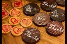 Wooden Coin-Based Loyalty Initiatives - The Innisfil Farmers' Market Used Wooden Coins as Currency