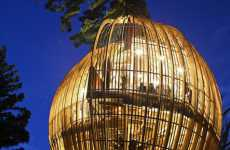 Caged Treehouse Restaurants - The Yellow Treehouse Opens its Doors in New Zealand