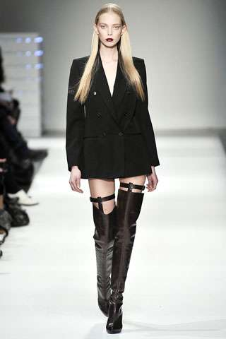 Thigh-High Garter Boots - Hussein Chalayan Shows Daring Shoes for Fall