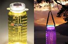 Glowing Water Bottles - The Sollight Lightcap is an Eco Lamp & Canteen