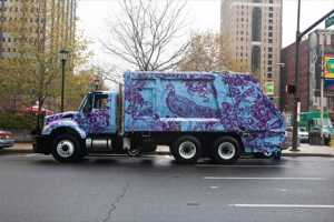 Philadelphia Mural Arts Program Transforms Recycling Trucks