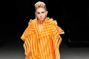 Poetic Candy Dresses in the Issey Miyake Fall 2009 Collection