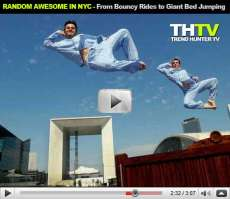Random Awesome in NYC - From Bouncy Rides at Night to Space Buster Bubble Parties (THTV)