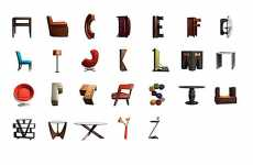 Furniture Letters - The Butler Bros. Create a Design Typeface Using Home Decor