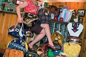 Retro Bowlers as Chic Purses by Brigid's Bags