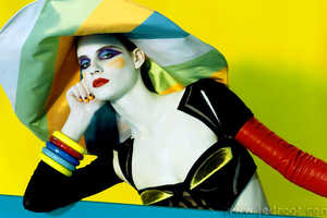 Miles Aldridge's Overly Saturated Fashion Editorials
