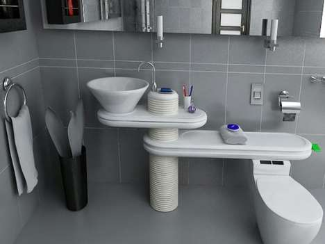 Water-Saving Bathrooms - Jang WooSeok's 'Eco Bath System' Sends Sink Water to Toilet