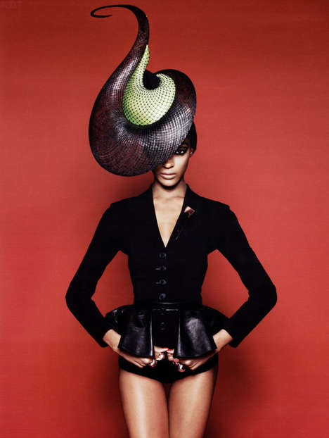 Outlandish Hats - Vogue Russia Brings Out the Peculiar Headgear
