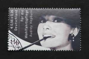 Audrey Hepurn Postage Fetches Small Fortune at Auction