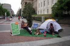 Campsite Publicity Stunts - Zipcar Creates Sidewalk Couch & Camping Display