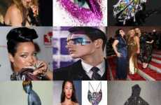 48 Swank Sparkling Fashions - From Glittery Man Makeup to Bejeweled Lips