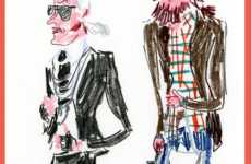 Humorous Look at Fashion Industry through Street Sketching