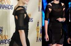 Cut-Out Transparent Fashion - Leighton Meester Dares to Bare at MTV Movie Awards