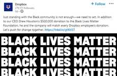 Donation-Matching Inclusive Initiatives - Dropbox Black Lives Matter to Match Donations Made in June