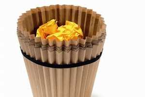 Disposable Waste Baskets Made of Recycled Paper