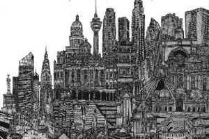 Edgartista's Subway Ride-Inspired 'New Millennium' Drawings