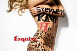 Bar Refaeli Wears Painted Stephen King Story in Esquire