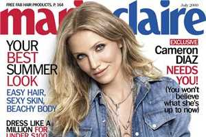 Cameron Diaz Wears Head-to-Toe Jean For Marie Claire