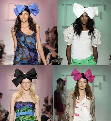 Big Bow Mania - Diane von Furstenberg Resort 2010 Collection Channels Minnie Mouse