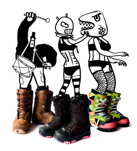 Cartooned Artvertorials - Huck Magazine Combines Doodles & Editorials
