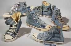 Recycled Denim Shoes - Levi's Creates 'Reused Jean Shoes' From Vintage Clothing