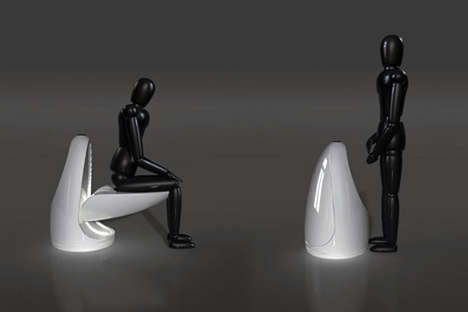 Transformer Toilets - The Ultimate Toilet by Young Sang Eun Turns Into a Urinal