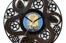 Vinyl Clocks - Like Minded Studios' 'Record Time Clocks' Make Punctuality Cool