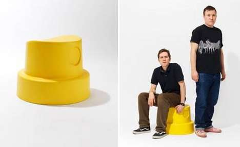 Spray Can Stools - 'Cap' by Don't Feed the Swedes is a Pop Art Masterpiece